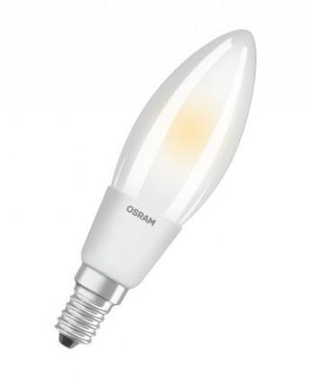 LED žárovka Osram STAR, E14, 6W, kulatá, čirá, teplá bílá