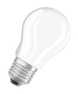 LED žárovka Osram STAR, E27, 4W, kulatá, čirá, teplá bílá