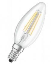 LED žárovka Osram VALUE, E14, 4W, svíčka, retro, teplá bílá