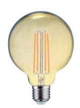 LED žárovka Tesla CRYSTAL, E27, 4W, G125, retro, teplá bílá