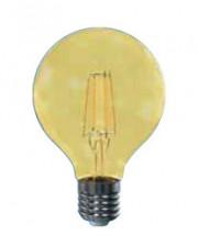 LED žárovka Tesla CRYSTAL, E27, 4W, G80, retro, teplá bílá