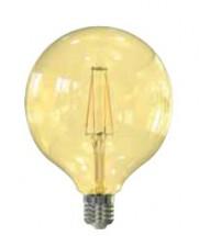 LED žárovka Tesla CRYSTAL, E27, 4W, G95, retro, teplá bílá