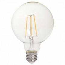 LED žárovka Tesla CRYSTAL, E27, 8W, kulatá, retro, teplá bílá