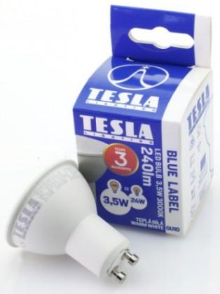 LED žárovka Tesla GU103530-5, GU10, 3,5W, teplá bílá