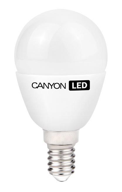 LED žárovky Canyon LED COB žárovka, E14, kompakt kulatá mléčná, 6W