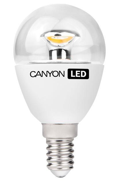 LED žárovky Canyon LED COB žárovka, E14, kompaktní, kulatá průhledná, 3,3W