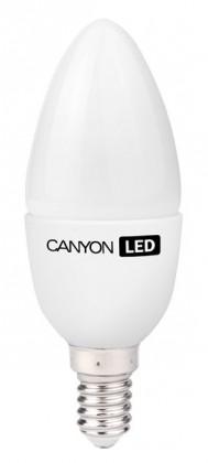 LED žárovky Canyon LED COB žárovka, E14, svíčka, mléčná, 3,3W