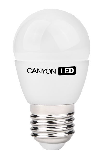 LED žárovky Canyon LED COB žárovka, E27, kompakt kulatá mléčná, 3.3W
