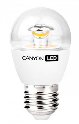LED žárovky Canyon LED COB žárovka, E27, kompakt kulatá průhledná, 6W