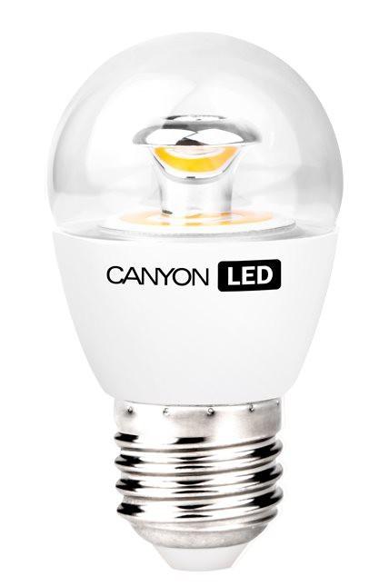 LED žárovky CanyonLEDCOBžárovka,E27,kulatá, průhledná,3.3W,teplá bílá