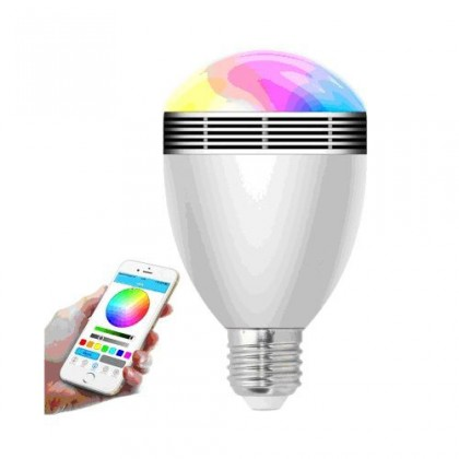 LED žárovky Chytrá bluetooth žárovka X-SITE BL-06G + 2 barevné LED žárovky