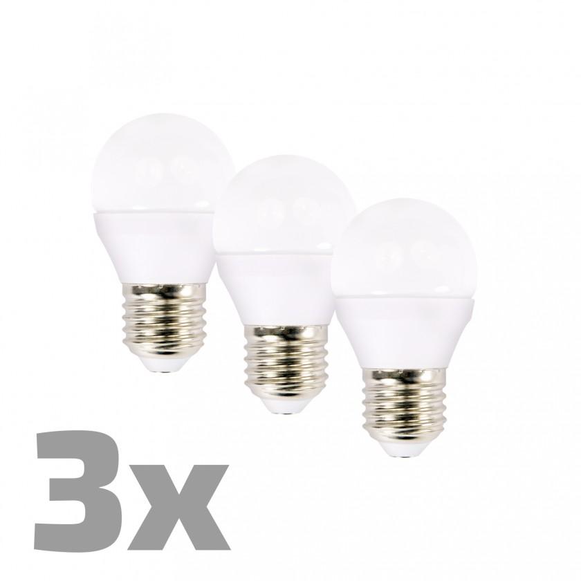 LED žárovky Ecolux WZ4323 LED žárovky,miniglobe, 6W, E27,3000K,450lm,3ks