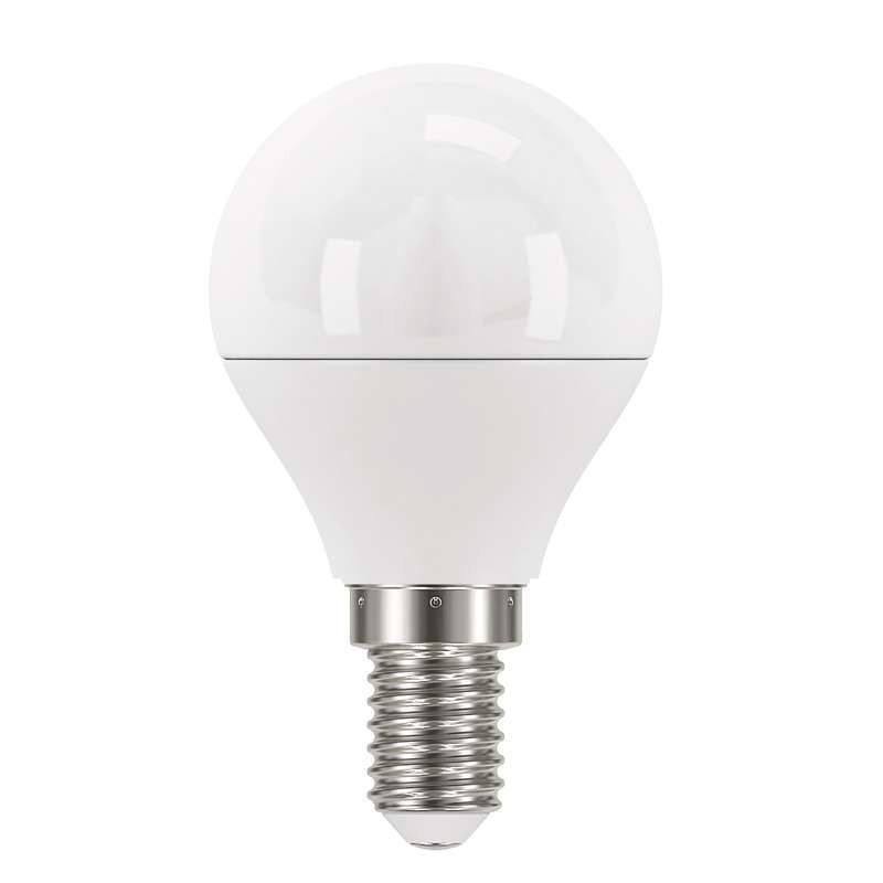 LED žárovky LED žárovka Emos ZQ1221, E14, 6W, kulatá, čirá, neutrální bílá