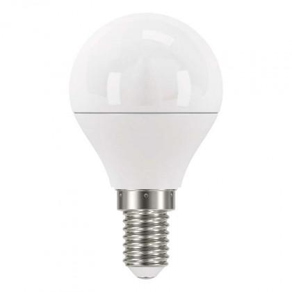 LED žárovky LED žárovka Emos ZQ1222, E14, 6W, kulatá, čirá, studená bílá