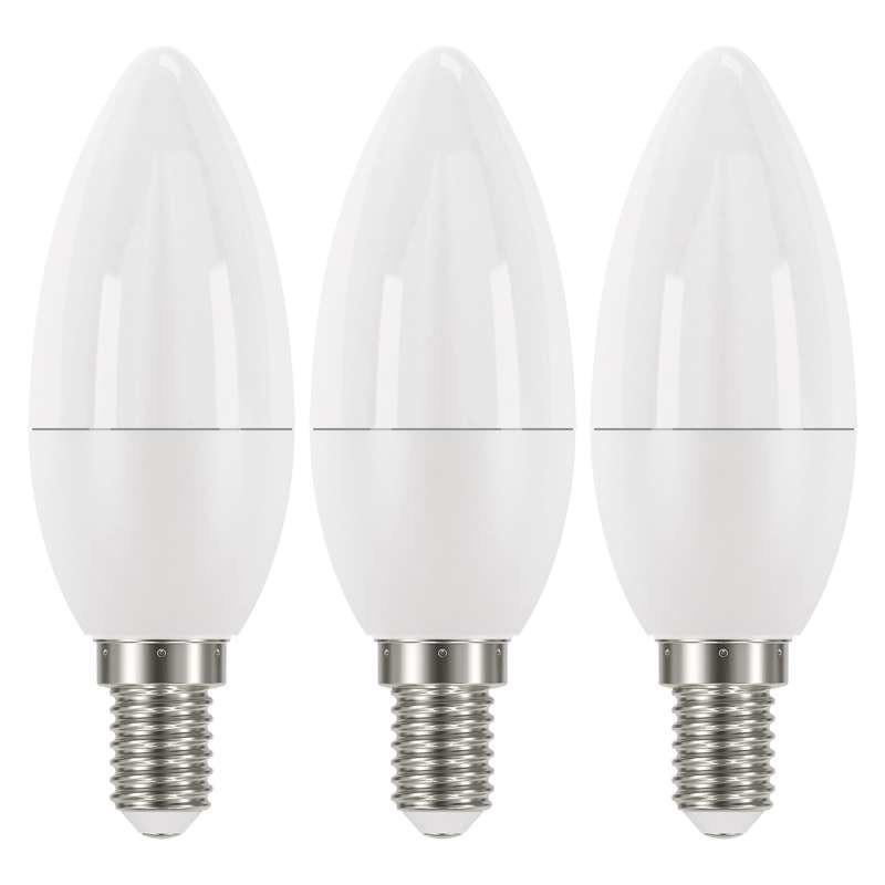 LED žárovky LED žárovka Emos ZQ32213, E14, 6W, svíčka, neutrální bílá, 3ks