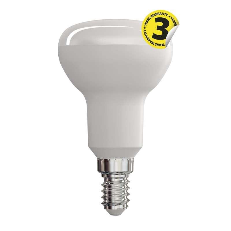 LED žárovky LED žárovka Emos ZQ7220, E14, 6W, reflektorová, čirá, teplá bílá