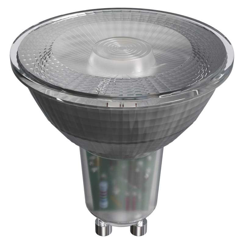 LED žárovky LED žárovka Emos ZQ8335, GU10, 4,2W, čirá, studená bílá