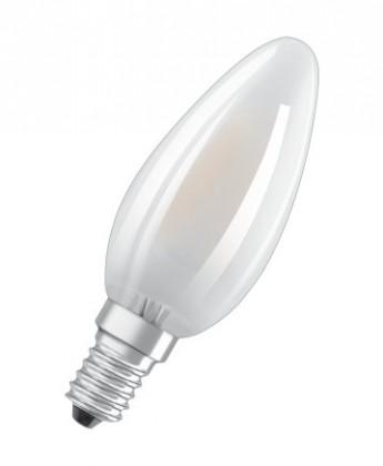 LED žárovky LED žárovka Osram BASE, E14, 4W, svíčka, matná, teplá bílá, 5 ks