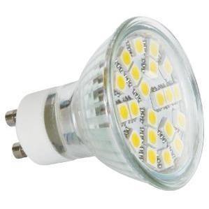 LED žárovky LED žárovka reflektorová 24 LED 4W GU10 denní bílá