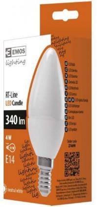 LED žárovky LED žárovka RS-LINE CANDLE 4W E14 neutrální bílá