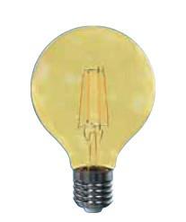 LED žárovky LED žárovka Tesla CRYSTAL, E27, 4W, G80, retro, teplá bílá