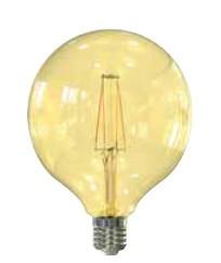 LED žárovky LED žárovka Tesla CRYSTAL, E27, 4W, G95, retro, teplá bílá