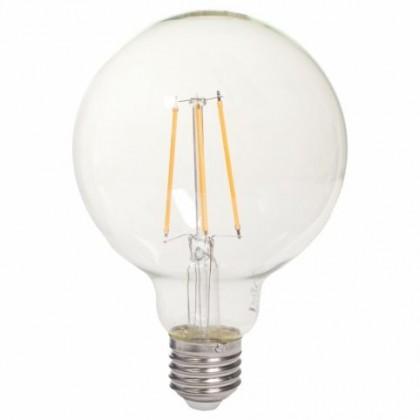 LED žárovky LED žárovka Tesla CRYSTAL, E27, 8W, kulatá, retro, teplá bílá