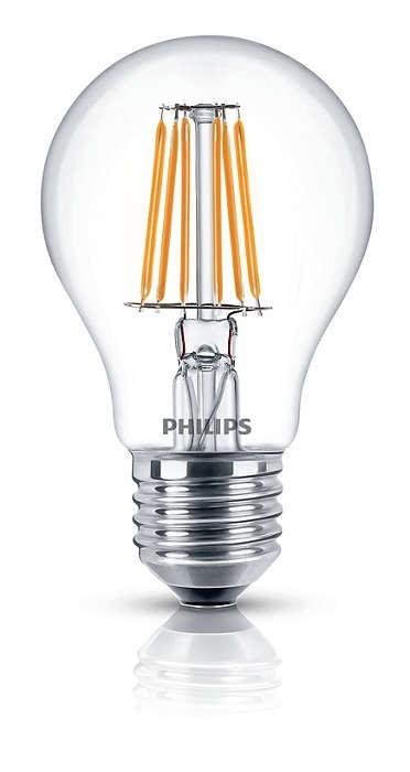 LED žárovky Philips LEDClassic 7,5-60W, E27, 2700K, Čirá (929001180501)