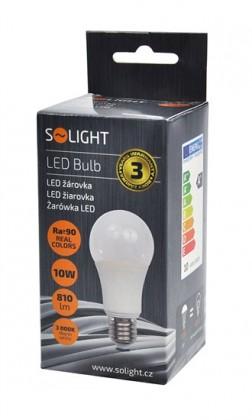 LED žárovky Solight LED žárovka E27 10W 3000K (WZ510)