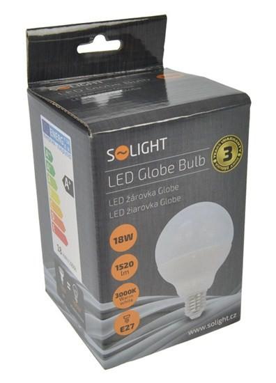 LED žárovky Solight LED žárovka, globe, 18W, E27, 3000K, 270°, 1520lm