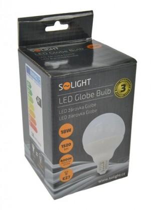LED žárovky Solight LED žárovka, globe, 18W, E27, 4000K, 270°, 1520lm