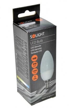 LED žárovky Solight LED žárovka, svíčka, 4W, E14, 3000K, 310lm