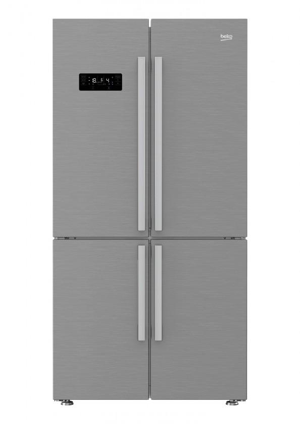 Lednice ZLEVNĚNO Americká lednice BEKO GN1416231JX