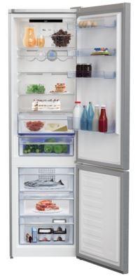 Lednice ZLEVNĚNO Kombinovaná lednice s mrazákem dole BEKO MCNA406E30ZXB, A++