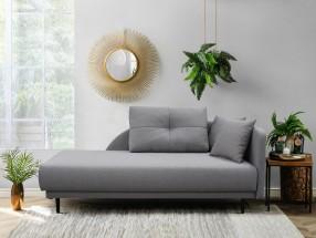 Lenoška Ize s úložným prostorem, pravá strana, šedá