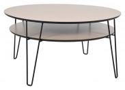Leon - Konferenční stolek, kulatý (dubová dýha)