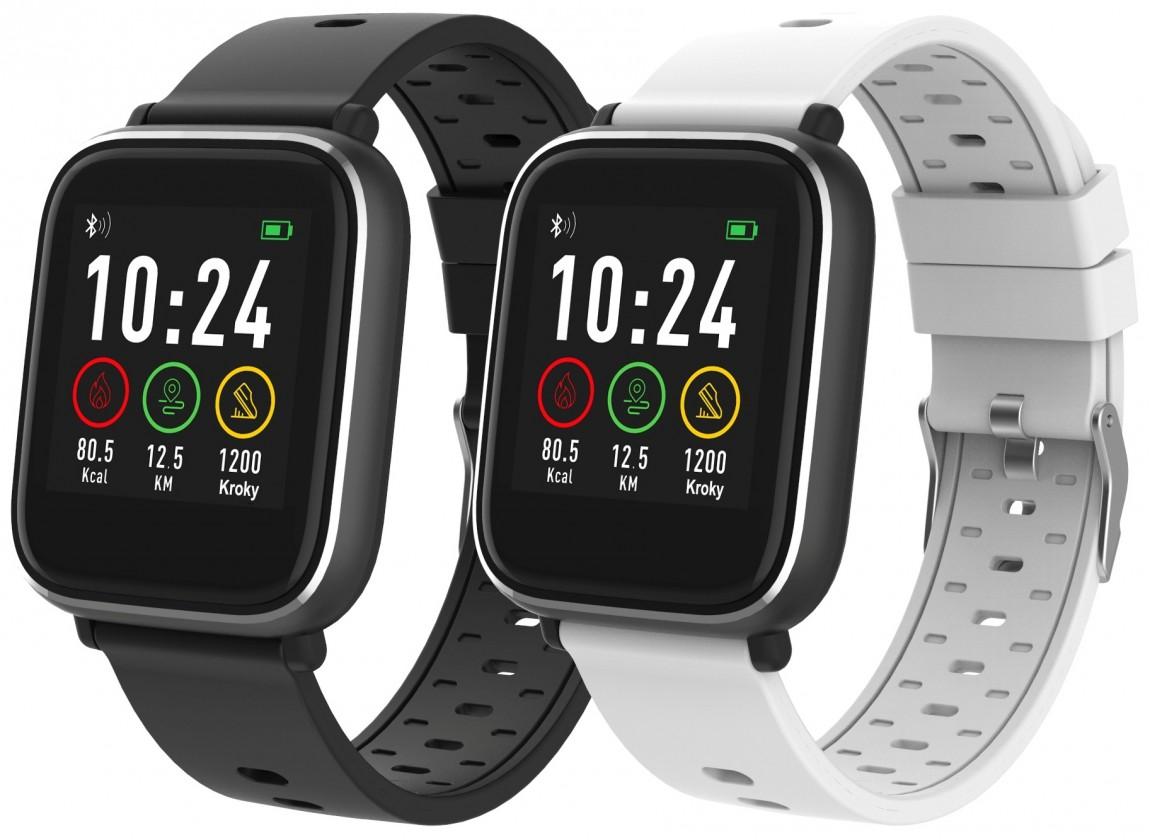 Levné chytré hodinky Chytré hodinky iGET Fit F3, 2 řemínky, černá