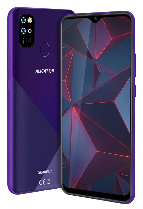 Levné mobily Mobilní telefon Aligator S6500 2GB/32GB, fialová