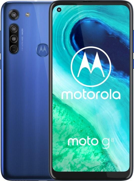 Levné mobily Mobilní telefon Motorola G8 4GB/64GB, modrá