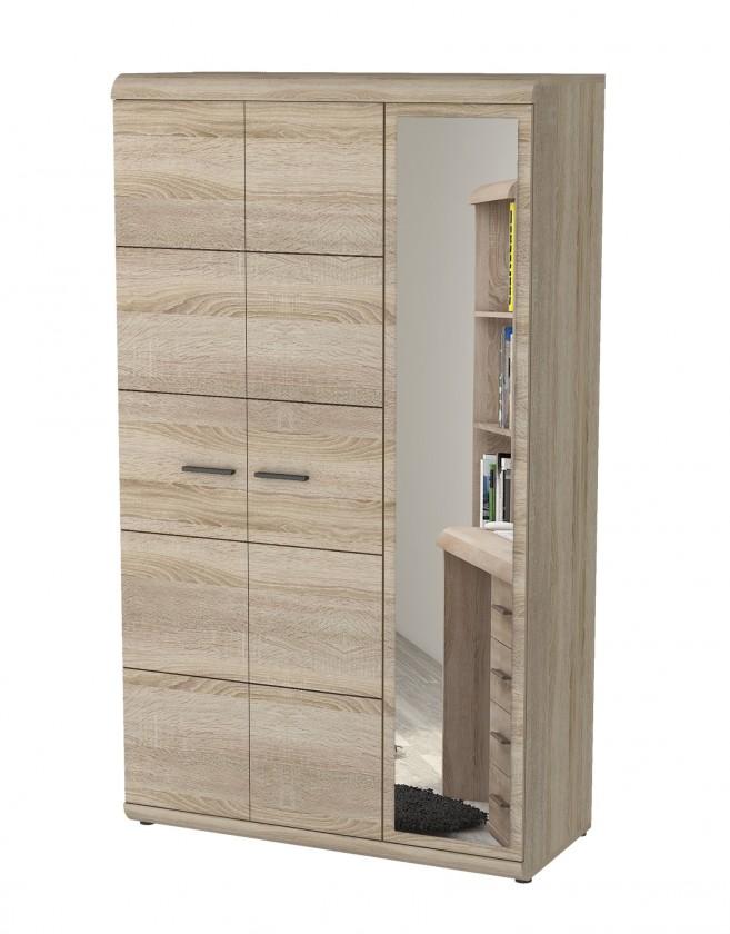 Levné skříně Link - Skříň, 120cm (dub sonoma)