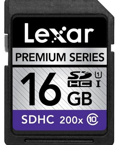 Lexar 16GB SDHC 200x Premium (Class 10)