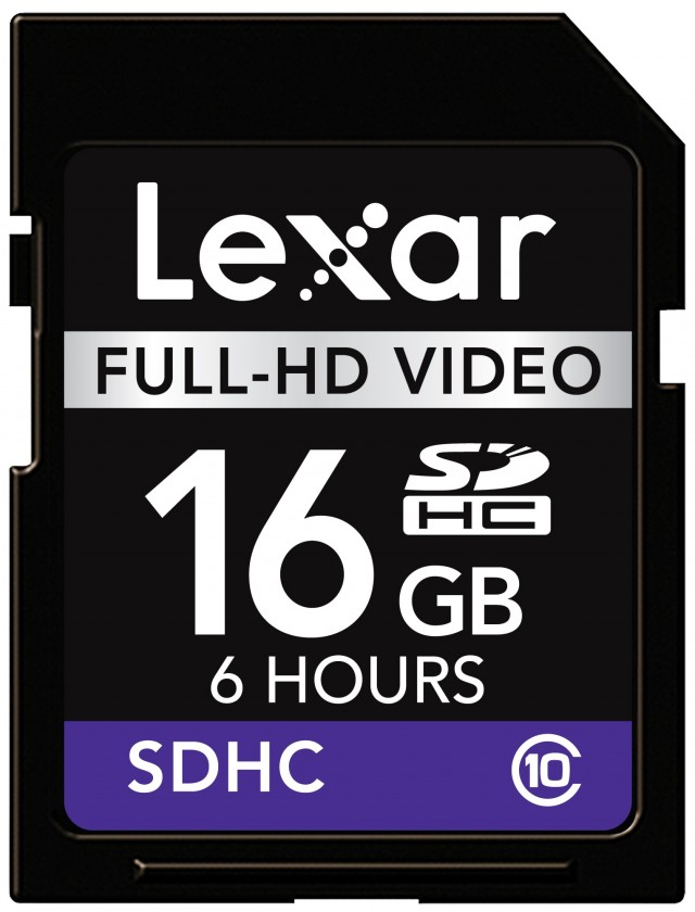 Lexar 16GB SDHC Full-HD Video (Class 10)