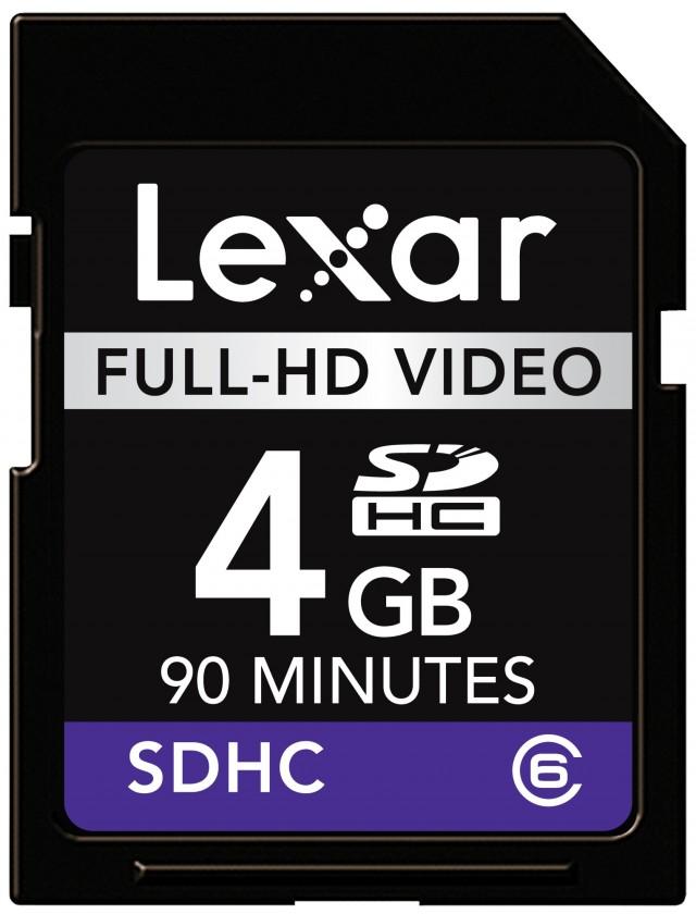 Lexar 4GB SDHC Full-HD Video (Class 6)