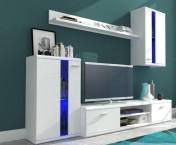 Life - Obývací stěna (bílá/bílá lesk)