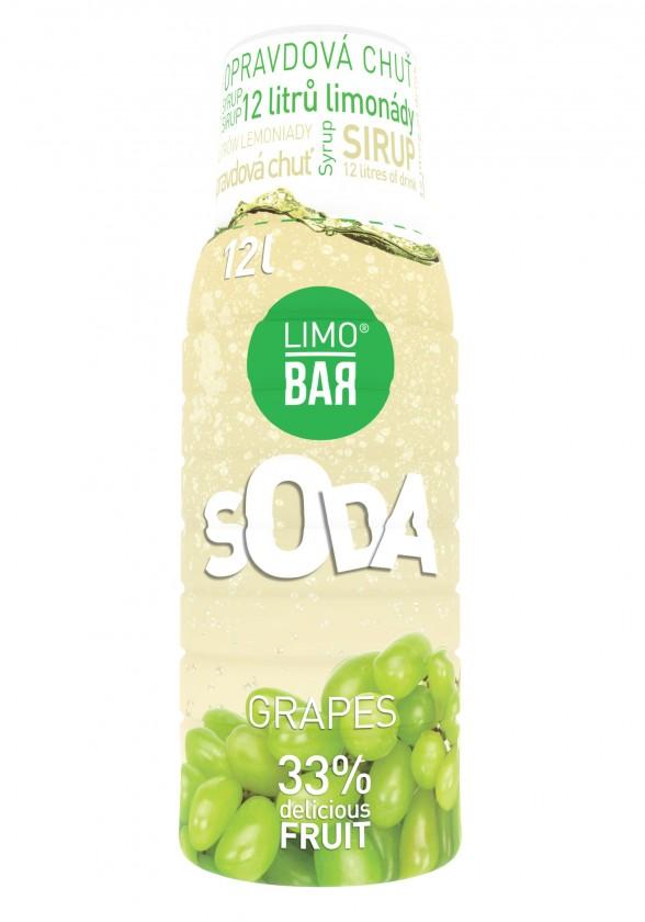 Limobary, sirupy Sirup Limo Bar, Hrozen, 500ml