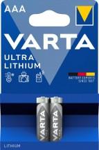 Lithiová mikrotužková baterie Varta Profi, AAA, 2ks