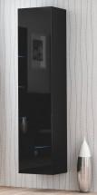 Livo - Závěsná skříňka 180 (černá mat/černá lesk)