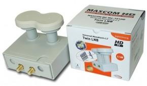LNB Mascom Monoblock Twin MCM4T01HD Gold 4.3°