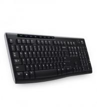 Logitech Wireless Keyboard K270 USB CZ, černá