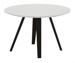 Lola Ella - Konferenční stolek, bílá, černá (9315-024+9366-001)